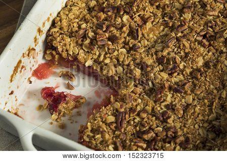 Homemade Cranberry Apple Cobbler Crumble