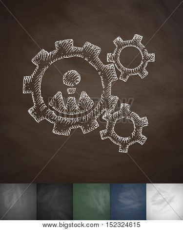 mechanism icon. Hand drawn vector illustration. Chalkboard Design