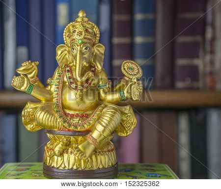 Traditional pose of the God of Wisdom - The Ganesha