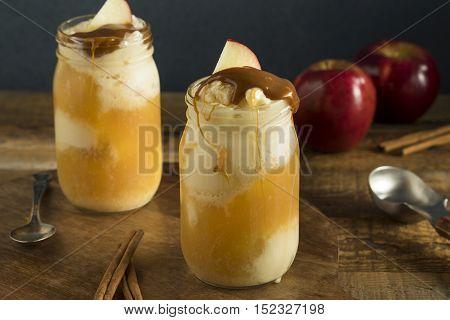Cold Apple Cider Ice Cream Float