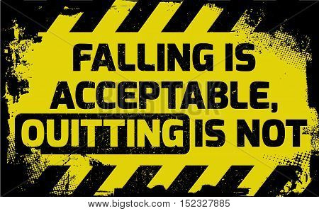 Falling Is Acceptable Sign