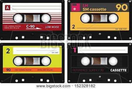 Vintage Compact Audio Cassettes
