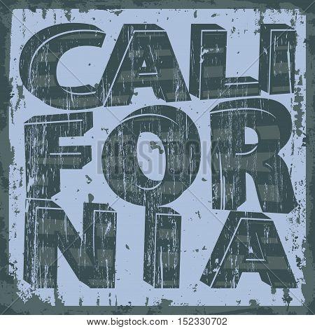 California Vintage artwork typography, t-shirt stamp graphics, vintage sport wear tee print design