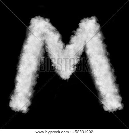 letter M made of the clouds