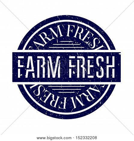 Farm Fresh Rubber Stamp