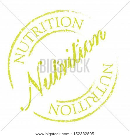 Nutrition Rubber Stamp