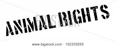 Animal Rights Rubber Stamp