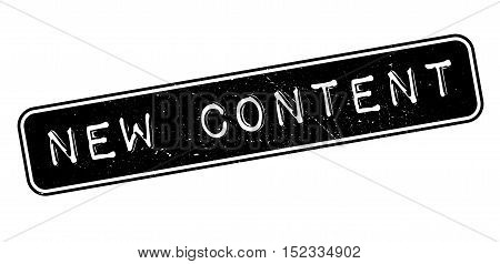 New Content Rubber Stamp