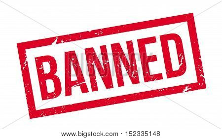 Banned Rubber Stamp