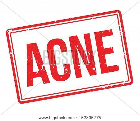 Acne Rubber Stamp