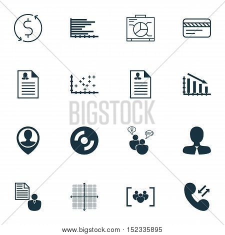 Set Of 16 Universal Editable Icons For Marketing, Travel And Computer Hardware Topics. Includes Icon
