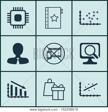Set Of 9 Universal Editable Icons For Human Resources, Project Management And Airport Topics. Includ