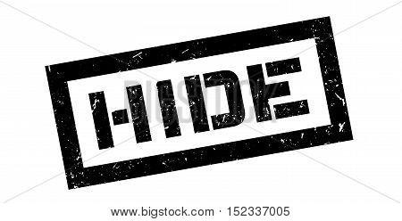 Hide Rubber Stamp