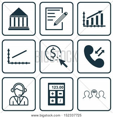 Set Of 9 Universal Editable Icons For Human Resources, Marketing And Education Topics. Includes Icon