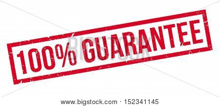 100 Percent Guarantee Rubber Stamp