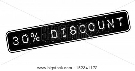 30 Percent Discount Rubber Stamp