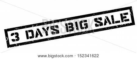 3 Days Big Sale Rubber Stamp