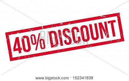 40 Percent Discount Rubber Stamp