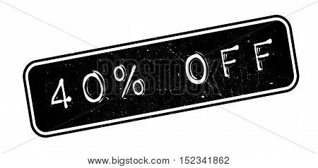 40 Percent Off Rubber Stamp