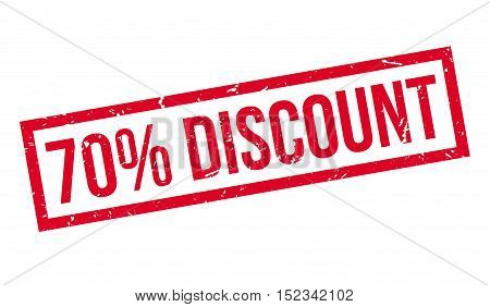 70 Percent Discount Rubber Stamp