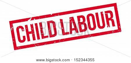 Child Labour Rubber Stamp