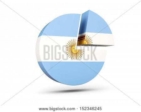 Flag Of Argentina, Round Diagram Icon