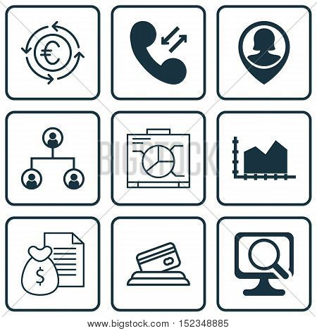 Set Of 9 Universal Editable Icons For Human Resources, Airport And Computer Hardware Topics. Include