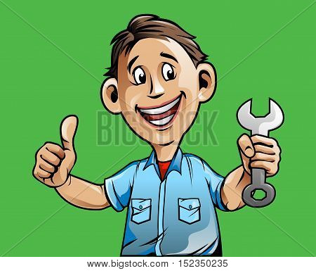 Vector Illustration, Auto mechanic service center mascot