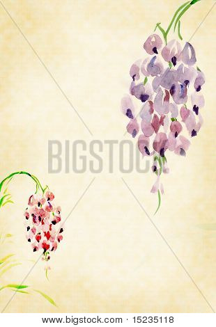Wisteria Painted Watercolors