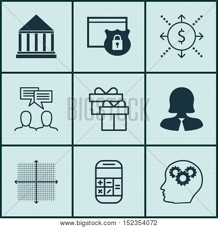 Set Of 9 Universal Editable Icons For Marketing, Airport And Statistics Topics. Includes Icons Such