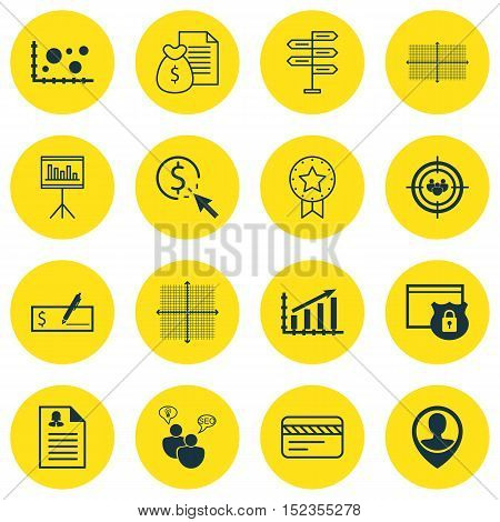 Set Of 16 Universal Editable Icons For Advertising, Marketing And Human Resources Topics. Includes I