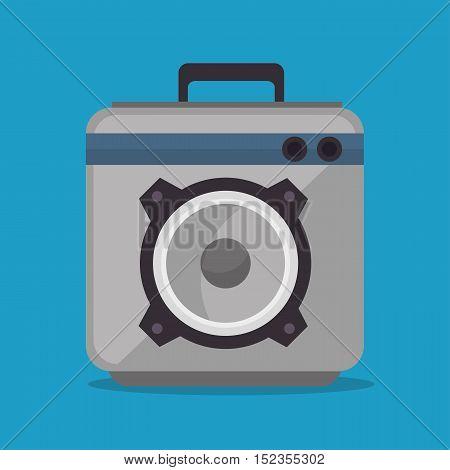audio speaker power music icon vector illustration eps 10
