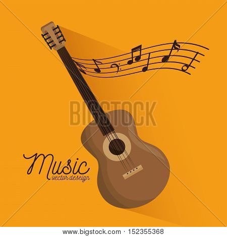 music festival guitar instrument poster vector illustration design