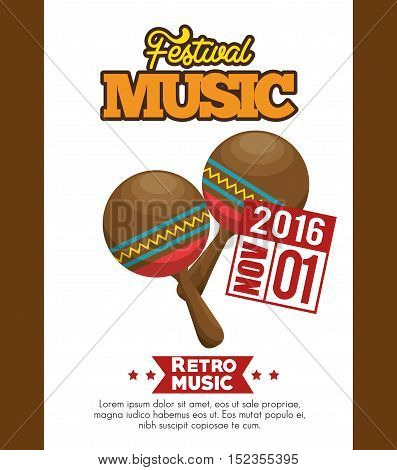 maracas icon festival music poster graphic vector illustration eps 10