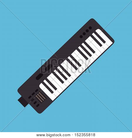 synthesizer music instrument graphic icon vector illustration eps 0