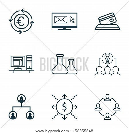 Set Of 9 Universal Editable Icons For Education, Marketing And Business Management Topics. Includes