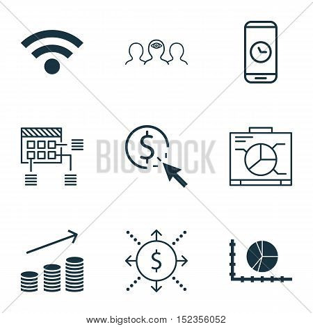 Set Of 9 Universal Editable Icons For Airport, Human Resources And Business Management Topics. Inclu