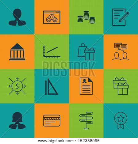 Set Of 16 Universal Editable Icons For Project Management, Education And Airport Topics. Includes Ic
