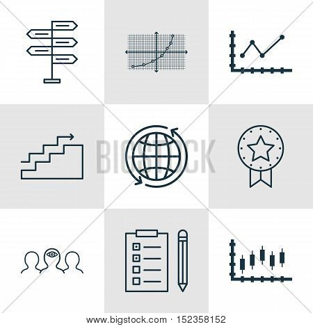 Set Of 9 Universal Editable Icons For Airport, Statistics And Project Management Topics. Includes Ic