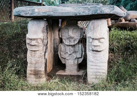 san augustin idols colombia south america inka civilization idols