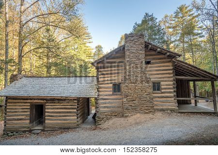 Old cabin on Smoky Mountains National Park