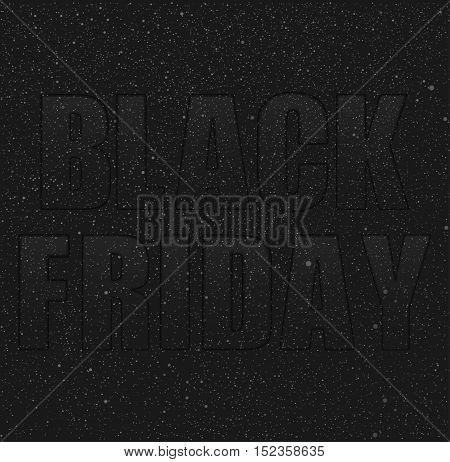 Vector background Black Friday Starry dark sky Night shopping.
