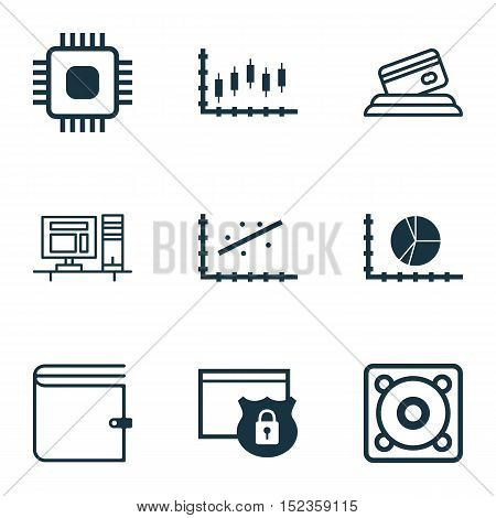 Set Of 9 Universal Editable Icons For Human Resources, Airport And Statistics Topics. Includes Icons