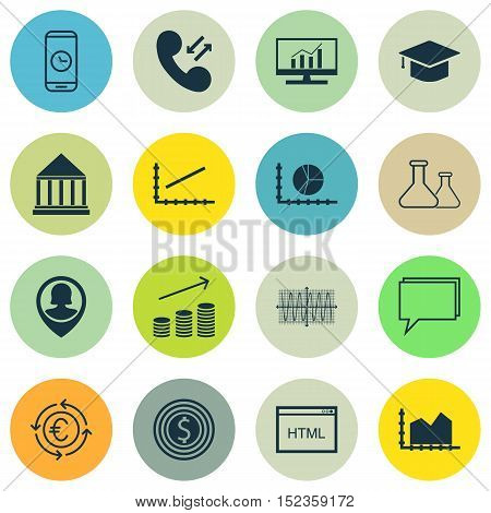 Set Of 16 Universal Editable Icons For Airport, Travel And Human Resources Topics. Includes Icons Su