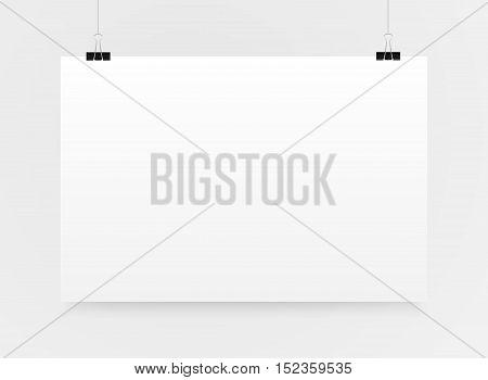 Set of paper rectangle banner template for business design, infographics. Vector illustration eps10. Mock up. Mockup. Web graphic for your design. A4. Binder.