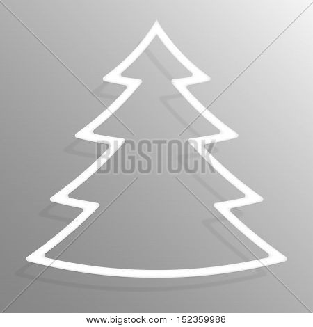 Paper christmas tree banners frame template for business design, infographics. Vector illustration eps10.