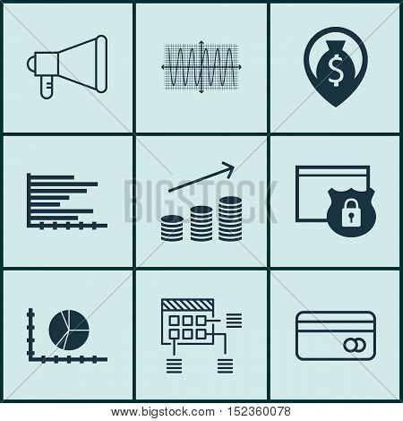 Set Of 9 Universal Editable Icons For Airport, Seo And Human Resources Topics. Includes Icons Such A