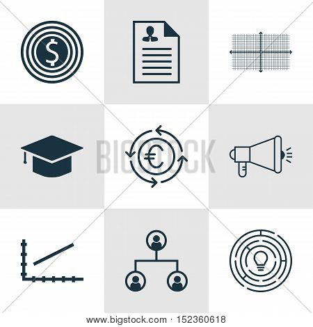 Set Of 9 Universal Editable Icons For Human Resources, Seo And Statistics Topics. Includes Icons Suc