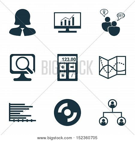 Set Of 9 Universal Editable Icons For Advertising, Education And Airport Topics. Includes Icons Such