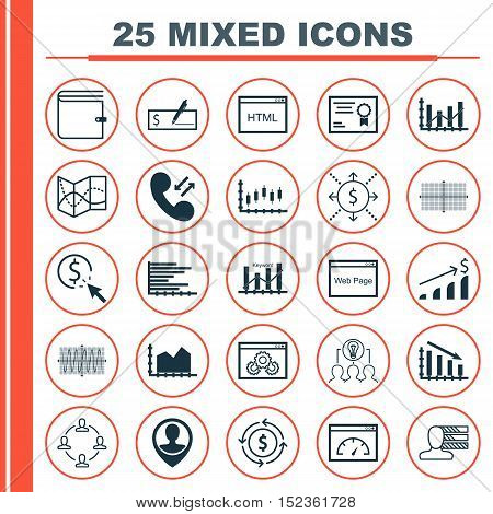 Set Of 25 Universal Editable Icons For Education, Statistics And Human Resources Topics. Includes Ic
